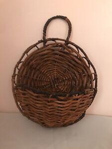 Wicker Wall Basket Boho Decor Farmhouse Gallery Cottagecore