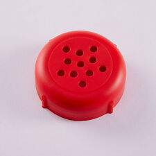 Cheese Shaker Tops- Plastic- Rust and Dent Free Forever Lids (12 Count) Red