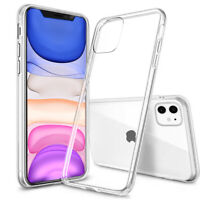 For iPhone 11 Pro Max XS Max XR Case Silicone Clear Transparent Slim TPU Cover