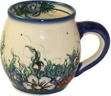 "Boleslawiec Polish Pottery Unikat 16oz Coffee or Tea Bubble Mug ""wild Field"""
