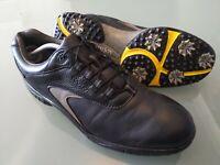 Men's Footjoy Contour Golf Shoes UK Size 11 Black Leather