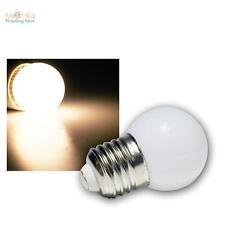 5x LED lámpara de gota E27 blanco cálido mit 9 SMD LEDs Bombilla Guirnalda luces