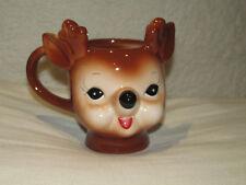Pottery Barn ~Cheeky Reindeer Mug~ Christmas~Tea~ Coffee~Collector Holiday~New~