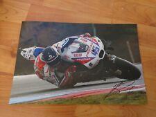 "GENUINE SIGNED SCOTT REDDING PRAMAC DUCATI 2016 MOTO GP PHOTO 12X8"""