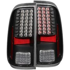 ANZO L.E.D Tail Lights Black For 08-16 Ford F-250/350/450/550 Superduty