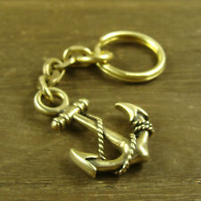 Solid Brass Anchor shaped Keychains key pendant Key Chain ring Key Holder