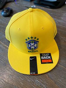 Nike True Brazil Brasil CBF Soccer National Team Yellow Snapback Hat Cap NEW!