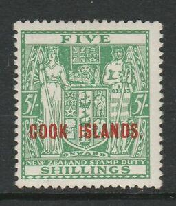 Cook Islands 1936-44 5/- Green SG 123 Mint.