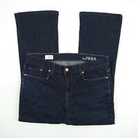GAP 1969 Mid Rise Bootcut Short Stretch Denim Jeans Women's Size 30 Actual 33