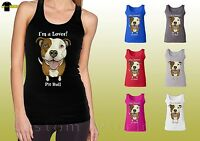 Pit Bull Design Women Shirts Love pitbull Dog Graphic Ladies Tank Top (19656hd4)