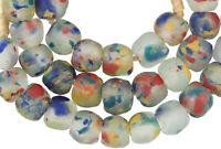 Trade Beads African powder glass Krobo Dipo Ghana multicolored recycled handmade