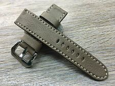 Luxury Genuine Leather Watch Strap for Panerai watch - 24mm/22mm - Elephant Gray