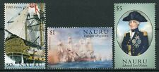 Nauru 2005 MNH Battle of Trafalgar 200th Anniv 3v Set II Nelson Ships Stamps