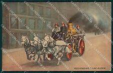 Vigili del Fuoco Firefighter cartolina QT5309