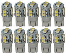 10 x ampoule T10 W5W 12V 10LED SMD blanc effet xénon
