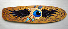hand painted skateboard deck Flying Eyeball Dennis McPhail pinstripe Hot Rod art