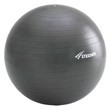 SAVE $$$ Steeden Exercise Ball Charcoal 75cm (Includes Foot Pump)