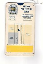 Slide Chart, Buss Motor Protection Guide, fuse, free shipping (S1178)
