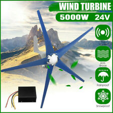 5 Blades 5000W Wind Turbine Generator Kit DC 24V W. Power Charge Controller.