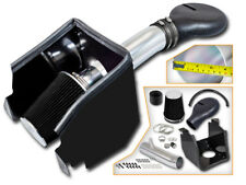BCP BLK 94-01 Dodge Ram 1500 V8 5.2L/5.9L Heat Shield Cold Air Intake + Filter