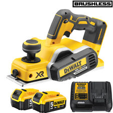 DeWalt DCP580N 18V XR Brushless Cordless Planer With 2 x 5.0Ah DCB184 & DCB115