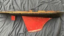 Antique Boat Tillicum Pond Sail Boat Made By Milton Bradley. All Original, Wood