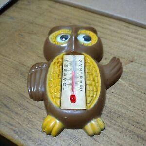 Mid Century Owl Refrigerator Magnet Thermometer ARJON Hong Kong