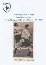 Sir ALF RAMSEY / HARRY Clarke Tottenham Hotspur RARA ORIGINALE A MANO FIRMATO QUADRO