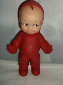"Vintage Cameo Rubber Squeak Toy Kewpie Doll Red Devil Pixie  8"" Tall  VGC"