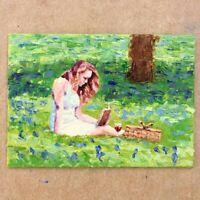 ORIGINAL Lady Reading Painting  - British Handmade Art Original Presale
