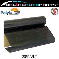 Window Tint Film 20% Black 50cm x 30m Roll Glass Car Home Office Bulk