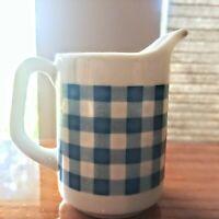 "Vintage Personal Creamer Pitcher 3.5"" Japan Blue/white Kitchen Decor Farmhouse"