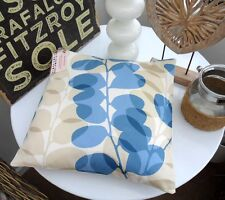 CUSHION COVER USING HARLEQUIN LUNARIA COTTON FABRIC BLUE MARLOW SEASIDE BEIGE 16