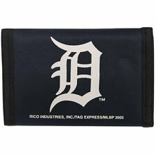 DETROIT TIGERS OFFICIAL TEAM LOGO NYLON TRIFOLD WALLET NEW RICO INDUSTRIES