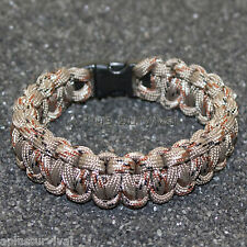 Desert Camo #2 550 lb Type III Paracord Survival Rope Bracelet - Made in the USA