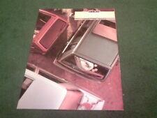 1987 Fiat Panda Uno Regata SOLAR Special Editions UK BROCHURE + PRICE LIST