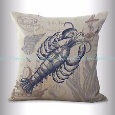 US SELLER, lobster sailor beach coastal cushion cover cheap cute pillows