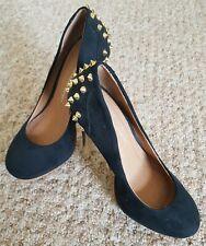 Kurt Geiger Black Heeled Gold studs Ladies Shoes EU 38 Uk 6 Emo goth steampunk