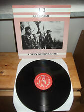 "U2 ""Goodnight (Live In Boston 5/5/1983)"" LP JUKE-BOX USA 1984"