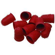 Qty 5 Quality Rubber red Thimblettes Thimble Finger Grips for Money, Paper etc