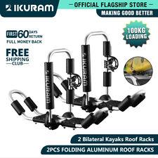 Supervalue IKURAM 2 bilateral kayaks roof racks Carrier canoe ski Holder Folding