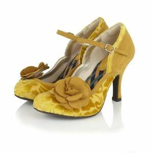 Ruby Shoo Beatrice Mary Jane Heel Mustard