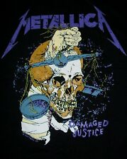 FREE SAME DAY SHIPPING BRAND NEW CLASSIC METALLICA DAMAGED JUSTICE SHIRT LARGE