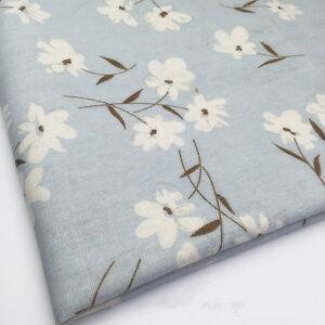 50*150cm Blue Linen Fabric Patchwork DIY Quilt Craft Flower F112 B#