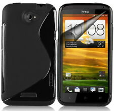 >> HTC One X Black Cover Case Silicone Rubber Tpu <<