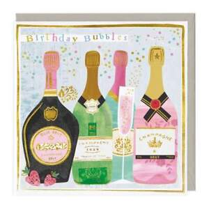 Happy Birthday Bubbles - Champagne/Prosecco Card Whistlefish