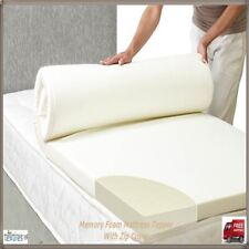 ORTHOPEDIC MEMORY FOAM MATTRESS TOPPERS ALL SIZES & DEPTHS PLUS FREE ZIP COVER