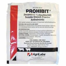 Agrilabs Prohibit Soluble Drench Powder 52g  cattle sheep levamisole