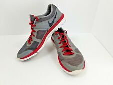 Nike Flex Run 2014 Cool Grey Black Gym Red White 642791-003 Nike Size 8.5