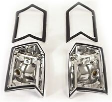 1968-69 Chevelle Wagon/El Camino/Sprint Taillight Bezels w/Gaskets (pair)